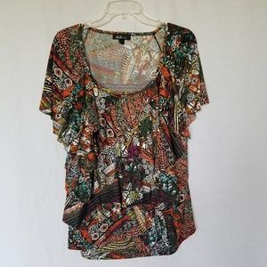 AGB ruffled plus size top size 2x